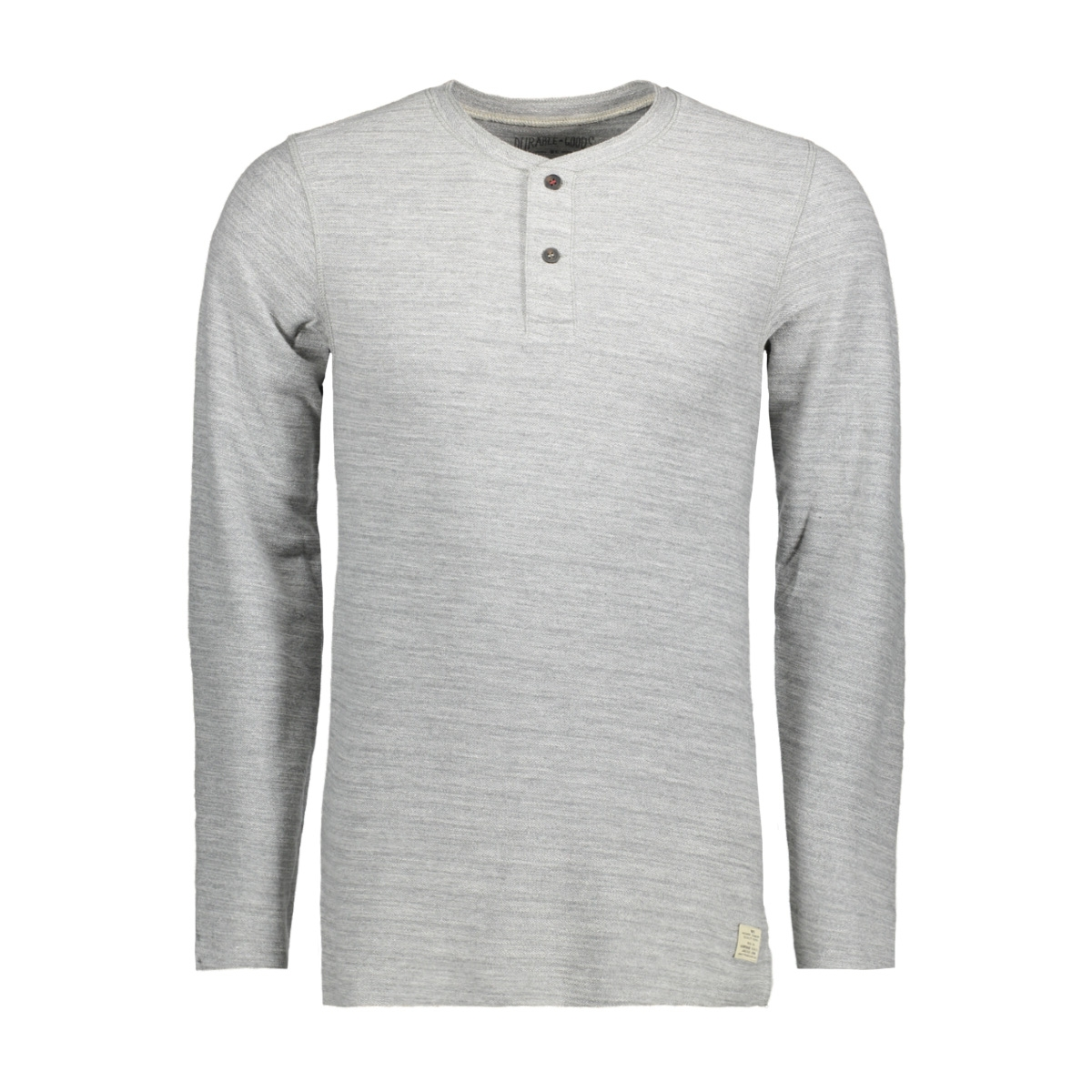 jjvsebastian ls granddad noos 12110081 jack & jones t-shirt light grey mela/melange
