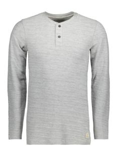 Jack & Jones T-shirt JJVSEBASTIAN LS GRANDDAD NOOS 12110081 Light Grey Mela/Melange