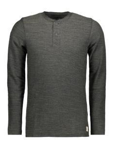 Jack & Jones T-shirt JJVSEBASTIAN LS GRANDDAD NOOS 12110081 Olive Night/Melange