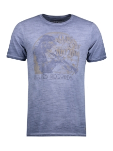 Jack & Jones T-shirt JJVBLUES TEE SS CREW NECK 12123170 Ombre Blue/Slim Fit