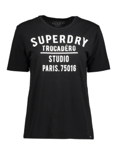 Superdry T-shirt G60001XP AMOUR GRAPHIC AFB WASHED BLACK