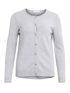 viril l/s knit cardigan-noos 14042767 vila vest light grey melange