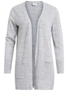 Vila Vest VIMARTHA L/S OPEN KNIT CARDIGAN PB 14042199 Super Light Grey Melange