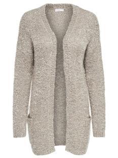 jdyrio l/s noos cardigan knt 15133635 jacqueline de yong vest simply taupe