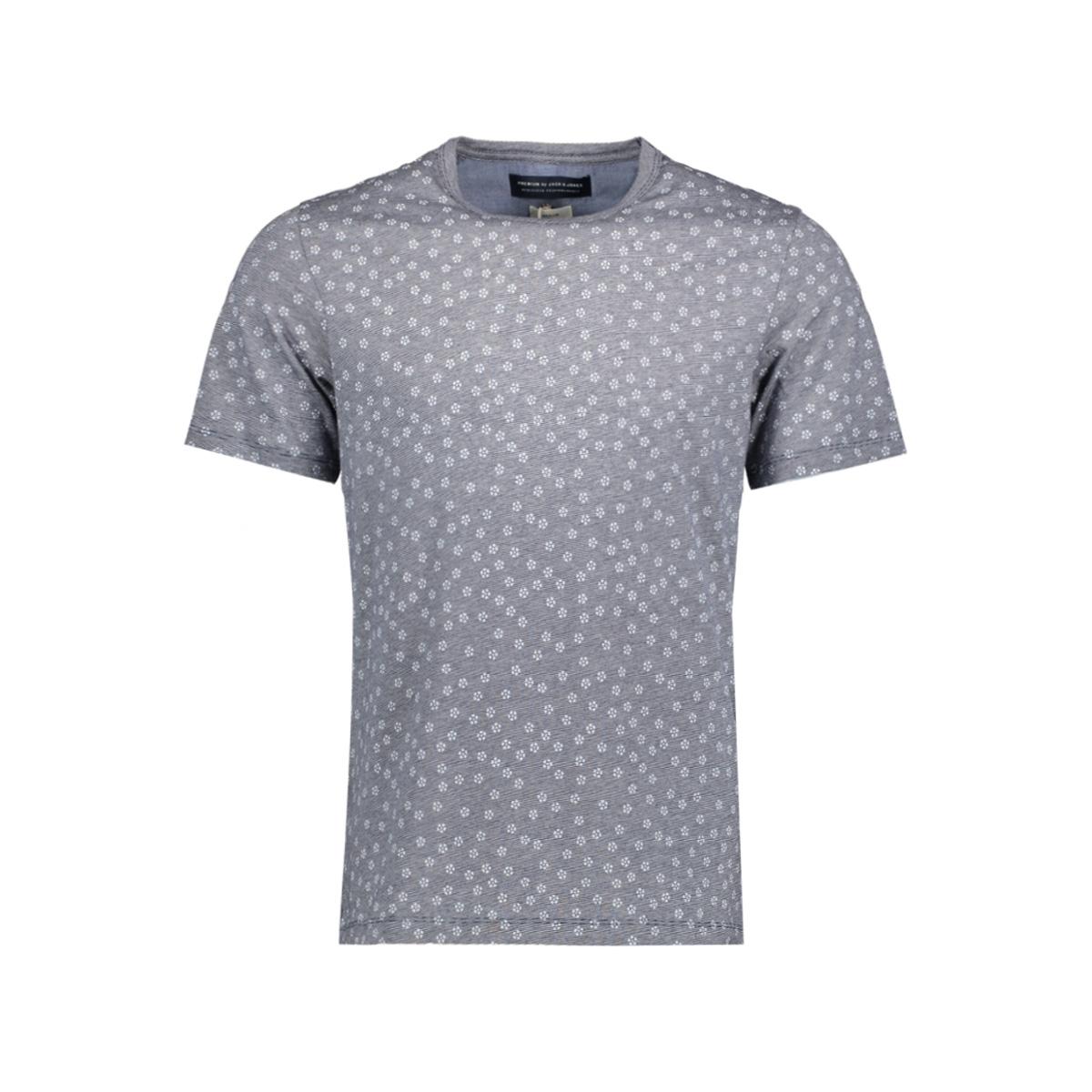 jprcane tee ss crew neck 12125039 jack & jones t-shirt maritime blue