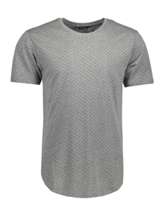 Only & Sons T-shirt onsMINI AOP LONGY TEE 22007276 Medium Grey Melange