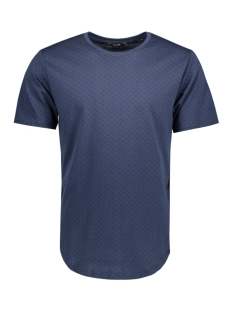 Only & Sons T-shirt onsMINI AOP LONGY TEE 22007276 Dress blues