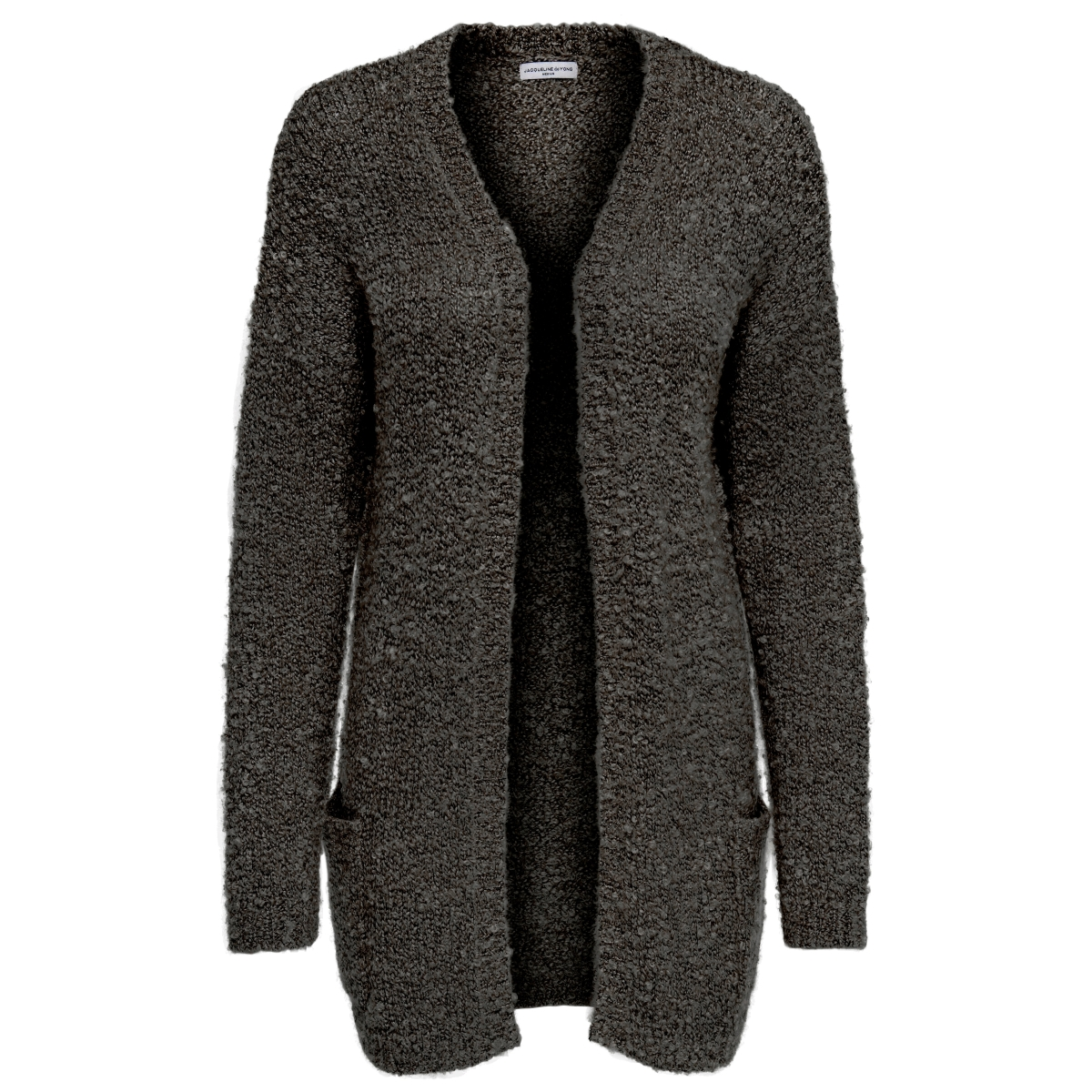 jdyrio l/s noos cardigan knt 15133635 jacqueline de yong vest dark grey melange