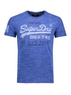 m10002pp premium goods duo tee superdry t-shirt dv6 (cobalt smoke)