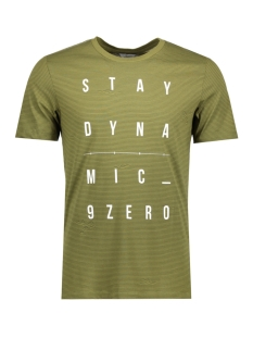 Jack & Jones T-shirt JCODEMON TEE SS CREW NECK CAMP 12123094 Capulet Olive