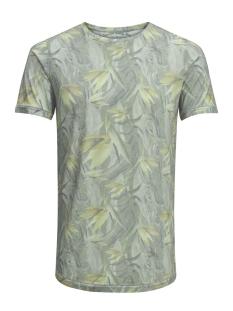 jjvfu toby ss tee 12131830 jack & jones t-shirt covert green/ slim fit