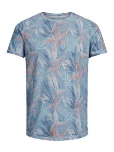 Jack & Jones T-shirt JJVFU TOBY SS TEE 12131830 Aegean Blue/ Slim Fit