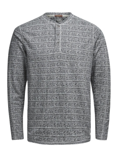 Jack & Jones Sweater JJVDUSTIN TEE LS GRANDDAD AUW 12125031 Light Grey Melange