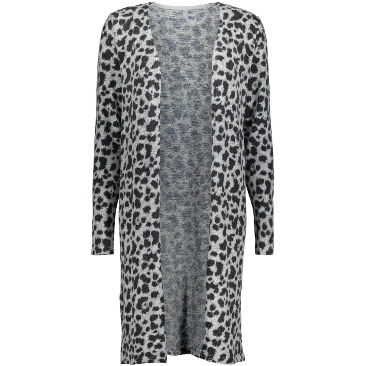 onlkleo l/s cardigan knt 15139014 only vest light grey melange/ black