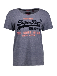 Superdry T-shirt G10011HP SHOP NEW SLIM MC7 BADLANDS BLUE MARL