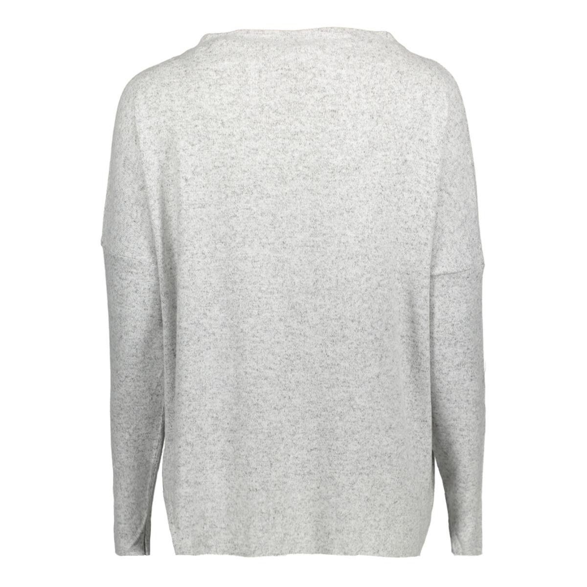 onlkleo l/s plain pullover knt noos 15141720 only trui light grey melange