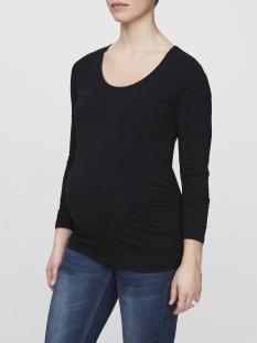 mllea organic l/s top 2pack 20006320 mama-licious positie shirt black/ snow white
