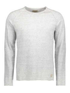 jjvcunion knit crew neck noos 12091541 jack & jones trui light grey melange