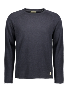 jjvcunion knit crew neck noos 12091541 jack & jones trui total eclipse