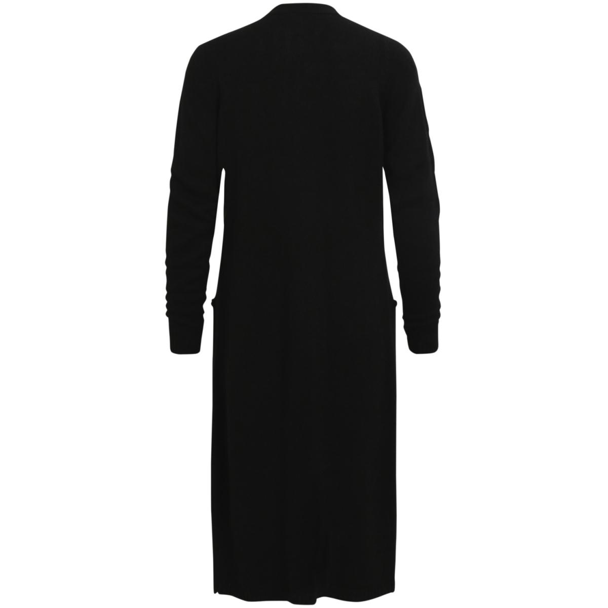 viriva l/s long knit cardigan-noos 14044324 vila vest black