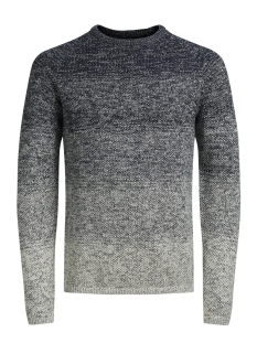 Jack & Jones Trui JORFUEL KNIT CREW NECK CAMP 12124444 Total Eclipse