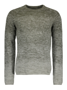 Jack & Jones Trui JORFUEL KNIT CREW NECK CAMP 12124444 Forest Night