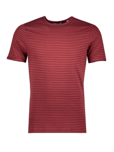 Only & Sons T-shirt onsALBERT STRIPE SS SLIM TEE NOOS 22006398 Rosewood/BLACK