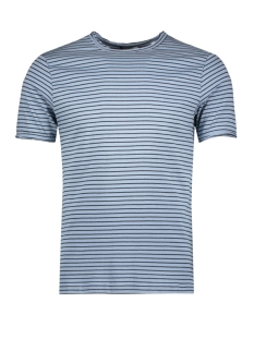 Only & Sons T-shirt onsALBERT STRIPE SS SLIM TEE NOOS 22006398 Ashley Blue/BLACK