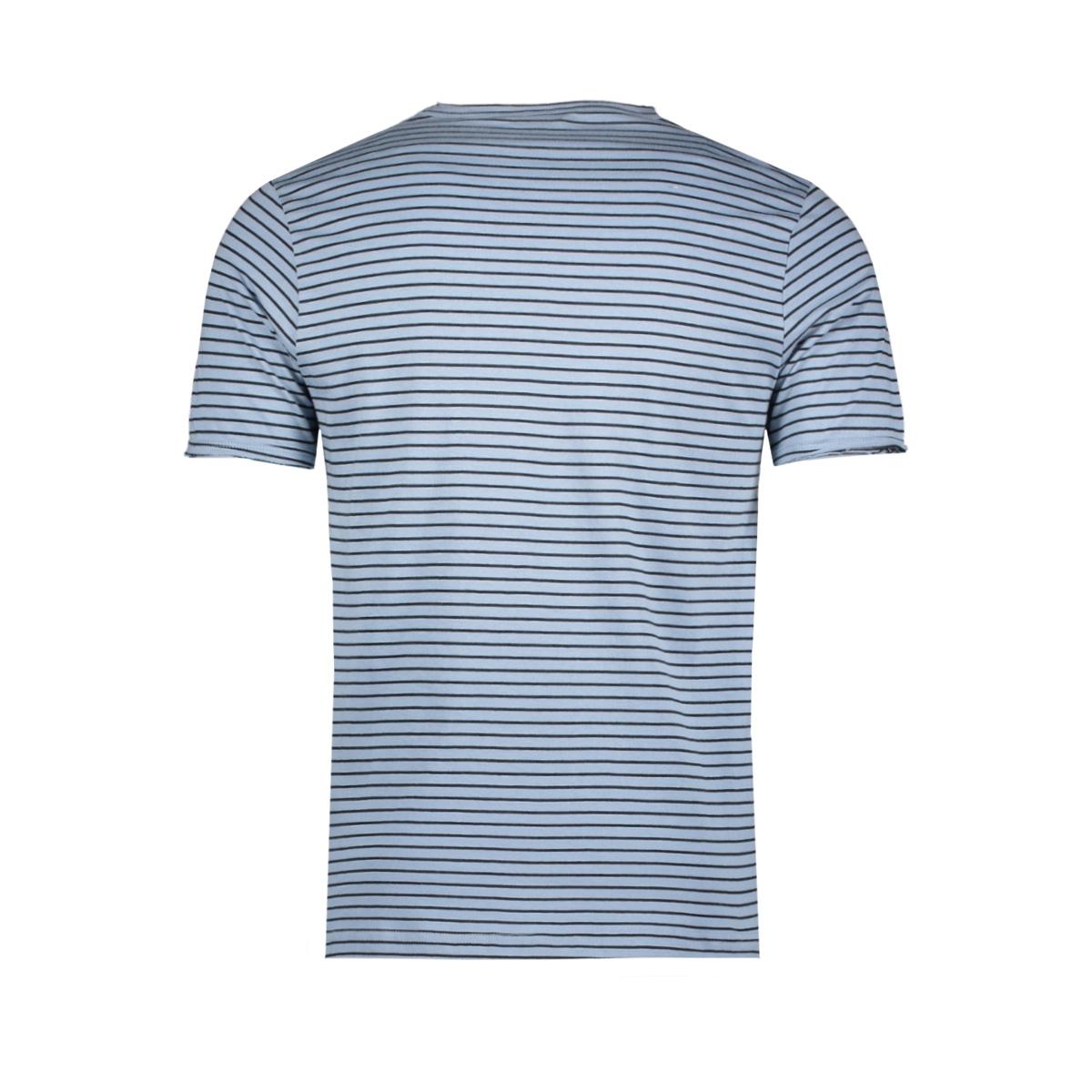 onsalbert stripe ss slim tee noos 22006398 only & sons t-shirt ashley blue/black