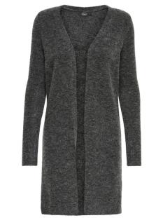 onlmeredith 7/8 cardigan knt noos 15140675 only vest dark grey melange