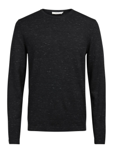 Jack & Jones Trui JPRMIKEY KNIT CREW NECK 12123552 Black/Melange