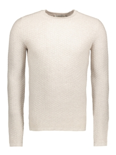 Jack & Jones Trui JPRBRICK KNIT CREW NECK 12124219 Light Grey Melange