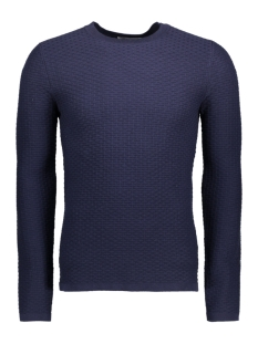 Jack & Jones Trui JPRBRICK KNIT CREW NECK 12124219 Maritime Blue
