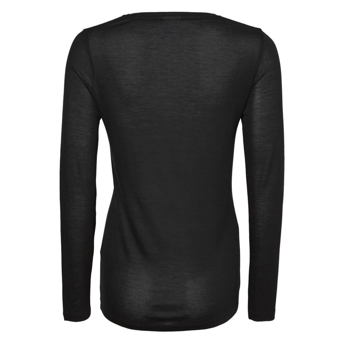 mlelysa l/s jersey top a 20007746 mama-licious positie shirt black/frontprint