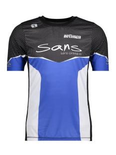 Sans Sport shirt 58123 RUNNING SHIRT BLAUW WIT