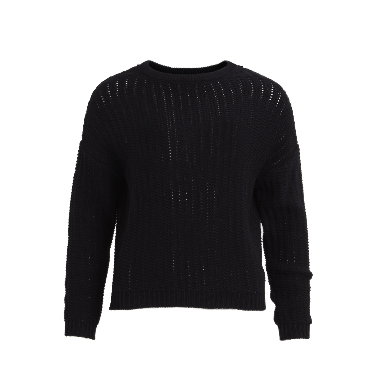 objnew color l/s knit pullover .i 9 23025148 object trui black
