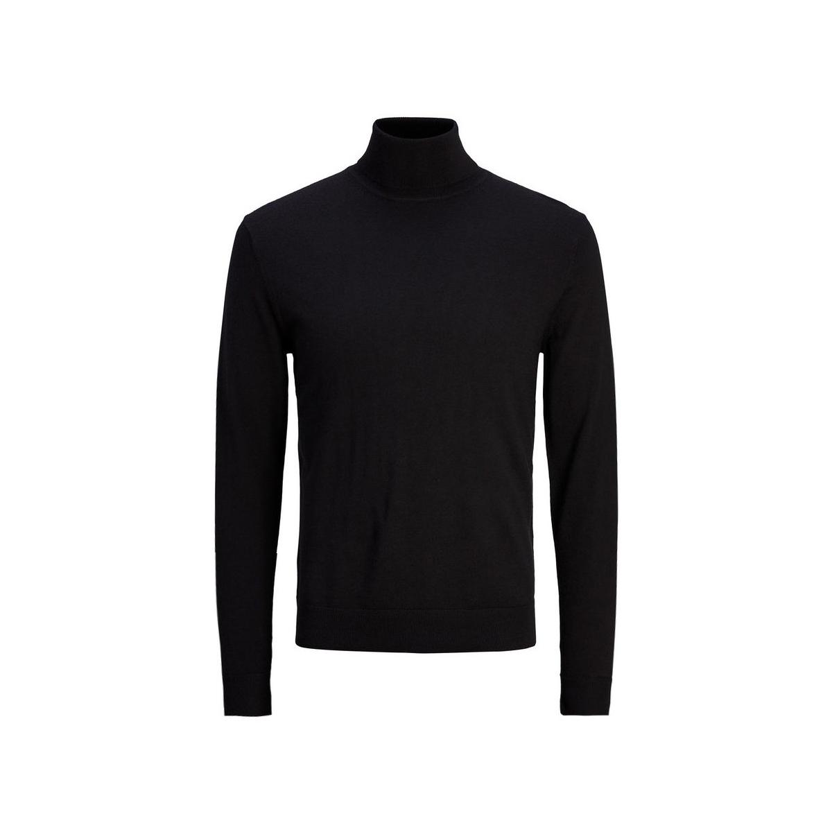 jprmark knit roll neck 12113489 jack & jones trui black