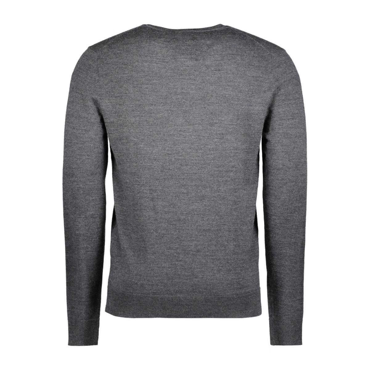 jprmark knit crew neck noos 12109976 jack & jones trui dark grey melange