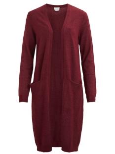 viril l/s long knit cardigan-fav 14043282 vila vest cabernet/melange