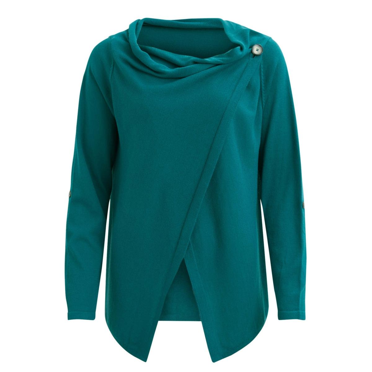 objdeanna light knit cardigan noos 23025313 object vest deep teal