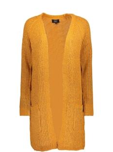 Only Vest onlBERNICE L/S OPEN CARDIGAN KNT 15139024 Golden Glow/W. BLACK M