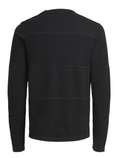 jcorouge knit crew neck 12124642 jack & jones trui black/knit fit