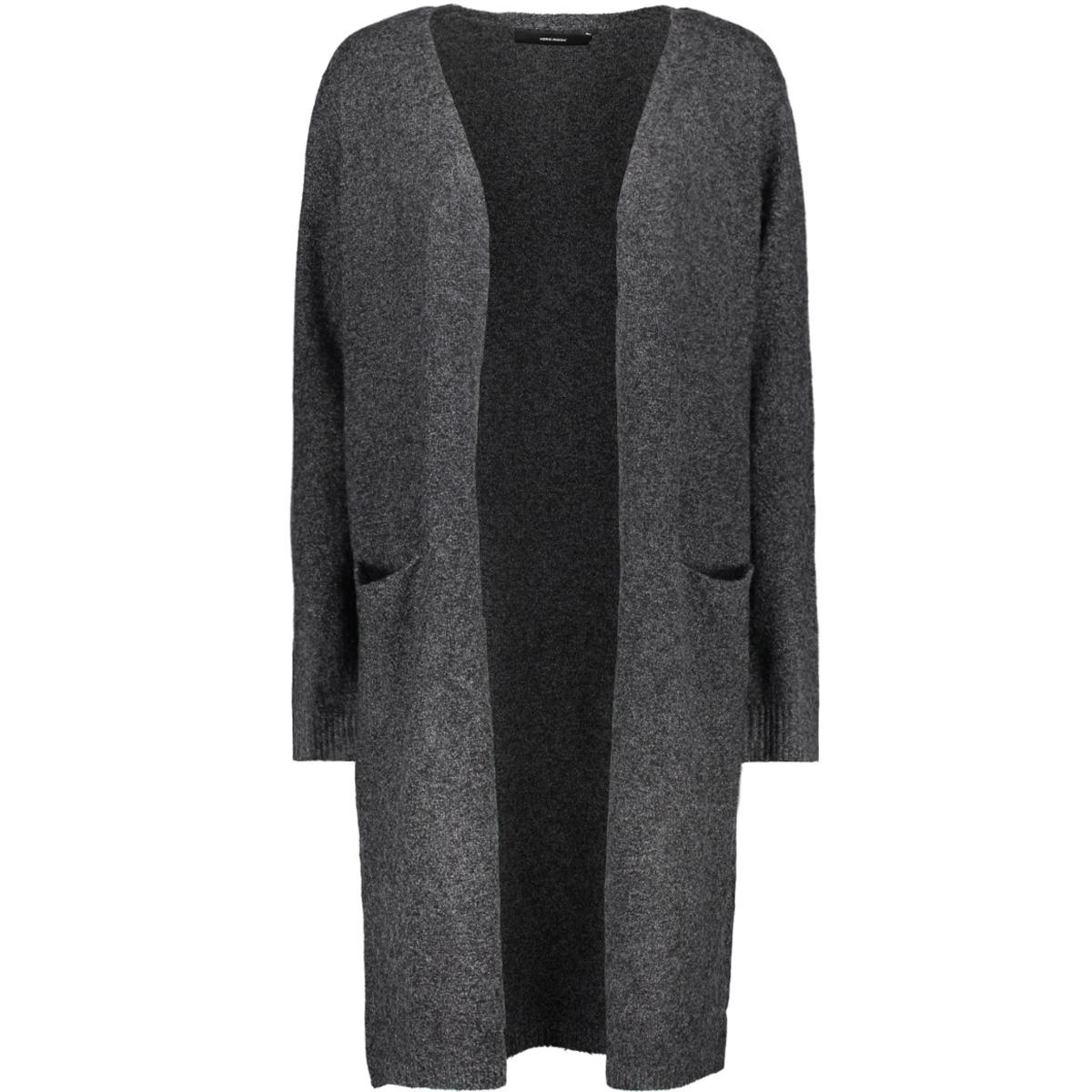 vmbrilliant ls long open cardigan noos 10180226 vero moda vest black