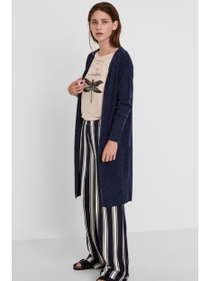 vmbrilliant ls long open cardigan n 10180226 vero moda vest navy blazer/melange