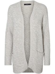 vmno name ls cardigan noos 10183605 vero moda vest light grey melange