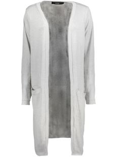 Vero Moda Vest VMSADIE LS LONG OPEN CARDIGAN A 10185772 Light Grey Melange