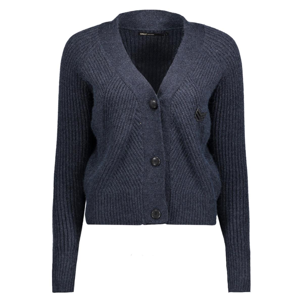 onlsmilla l/s button cardigan knt 15140086 only vest sky captain/w melange
