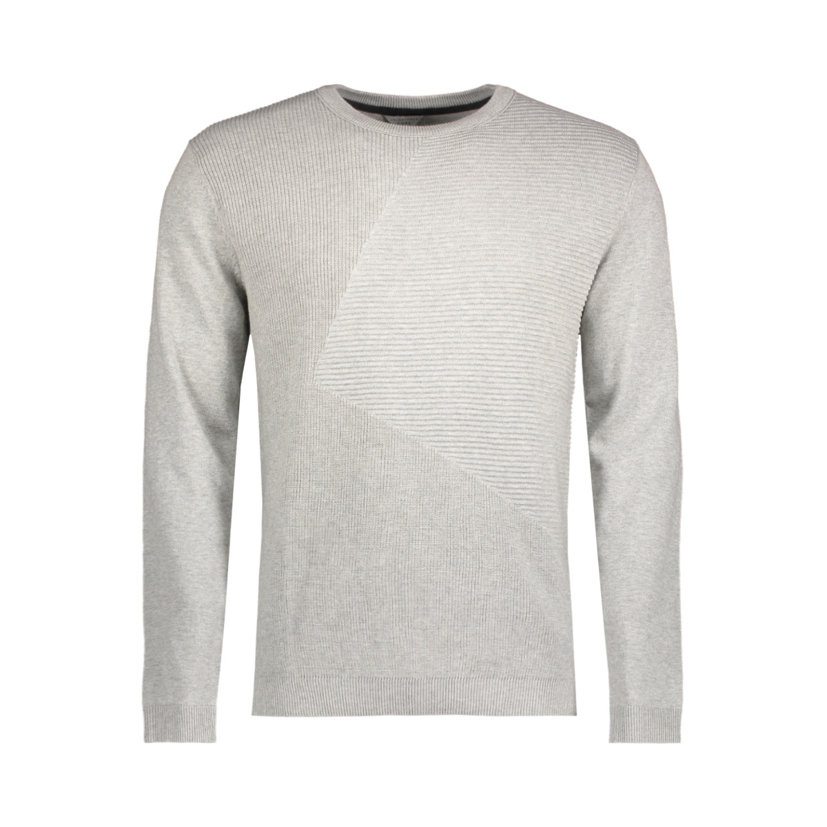 jcopenditon knit crew neck camp 12128544 jack & jones trui light grey melange