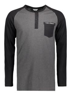 Jack & Jones T-shirt JCOPERCH TEE LS GRANDAD 12128838 Dark Grey Melan/Slim