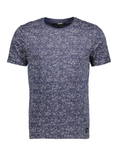 Only & Sons T-shirt onsAKIM AOP SS SLIM TEE 22007487 Dress Blues